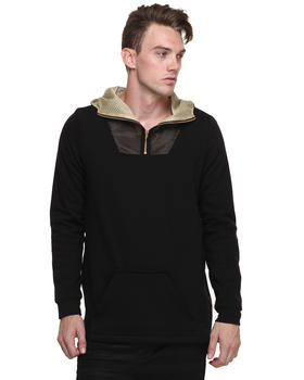 Sir New York - Zipper Contrast Mesh Hoodie