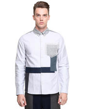 DJP OUTLET - L/S Color Block Button Front Shirt