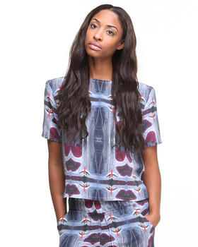 Tops - S/S Silk Landing Strip Shirt