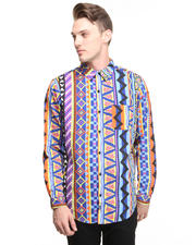Men - Feral Stripe Buttonfront Shirt