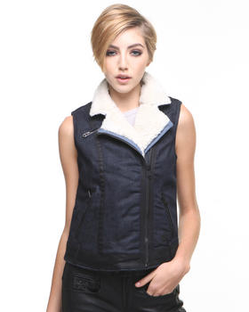 DJP OUTLET - 5620 Denim Shearling Vest