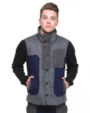 Jackets & Coats - Color Block Vest w/ Extend Tab Closure