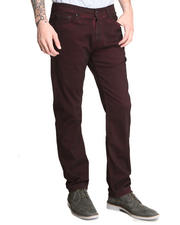 DJP OUTLET - Division Slim Straight Burgandy Inked Twill Pant