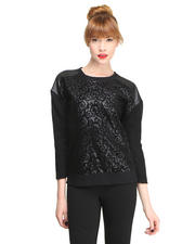 Women - Flocked Sweater