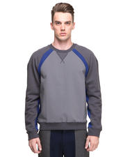 DJP OUTLET - Athletic Contrast Stripe Raglan Sweatshirt