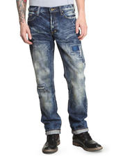 Straight - Barracuda Straight Leg w/ Patch Detail Jeans