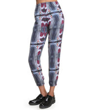 Collina Strada - Landing Strip Silk Print Pant w/ Gathered Ankle