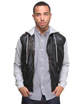 DJP OUTLET - Mayweather Denim Vest w/ Jersey Sleeves