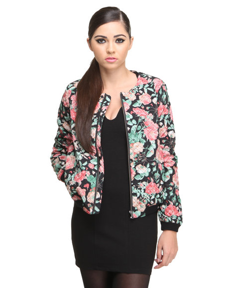 Lovers + Friends Women's Pink Catch Up Bomber Jacket
