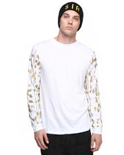 Men - L/S Shirt w/ Gold Drip Dot Sleeve