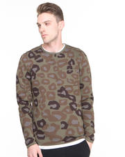 Sweaters - Derek Cats w/ Guns Camo Sweater