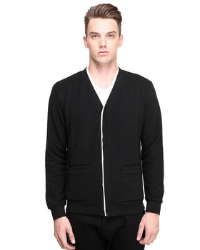 DJP OUTLET - Cardigan w/ Contrast Placket Detail