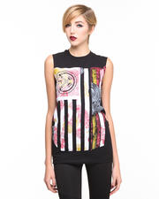 Tops - Rebel Flag Paisley Muscle Tee