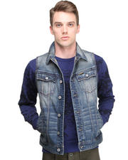Jackets & Coats - Blasted Denim Vest