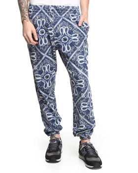 Shades of Grey by Micah Cohen - Bandana Print Sweatpant