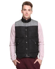 Men - Contrast Fabric Down Vest
