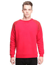 Men - L/S Sweatshirt w / Knit Shoulder Detail