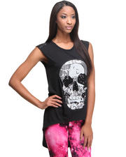 Tops - Sequins Skull Top