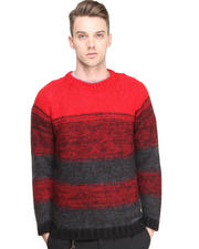 Sweaters - Striped Mohair Sweater