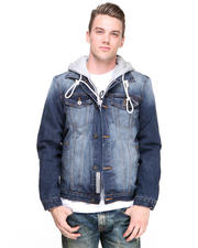 Cult Of Individuality - Hagen Denim Jacket w/ Hoodie
