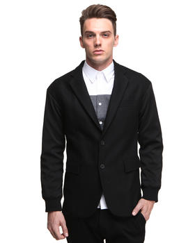 DJP OUTLET - Dropped Shoulder Casual Blazer w/ Contrast Sleeve