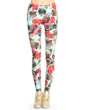 Leggings - Juke Box Flower Leggings