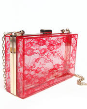 Bags - Lace Box Clutch