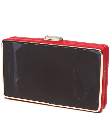 Fashion Lab Women Little Red Case Clutch W/Pouch Black - $16.99