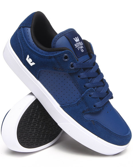 Supra Navy Vaider Lc Navy Suede/Leather Sneakers