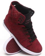 Supra - Skytop Burgundy Suede Sneakers