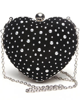 Fashion Lab - Heart Shape Clutch Handbag