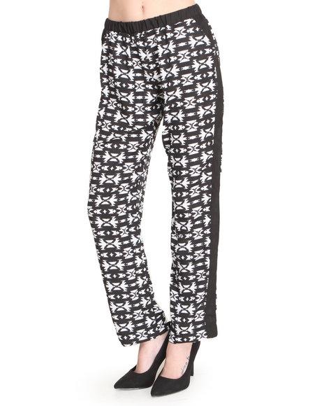 Ali & Kris - Women Black,White Aztec Print Soft Pant