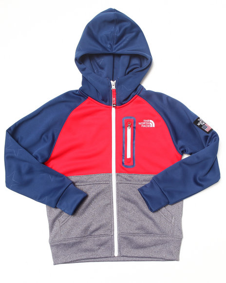 The North Face Boys Blue B International Full Zip Hoodie