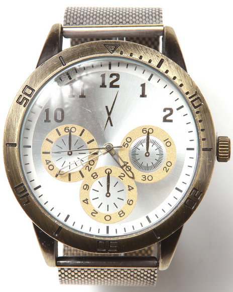 Drj Jewelry Shoppe Men Dialed Up Watch Gold