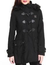 Rocawear - Lumber Jack Heavy Coat w/toggles faux fur trim