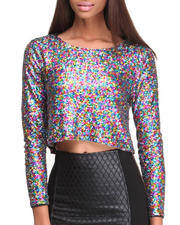Fashion Tops - Glamour Glitter Top