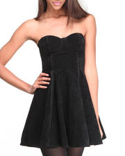Women - Saint Bernadette Faux Velvet Dress