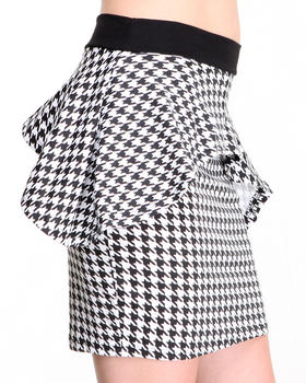Apple Bottoms - Houndstooth Peplum Skirt