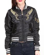Light Jackets - Roc Flight Jacket w/zippers ruchig detail