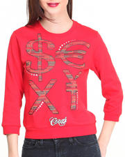 Sweaters - 3/4 Sleeve Pullover w/ Money Sign Wording