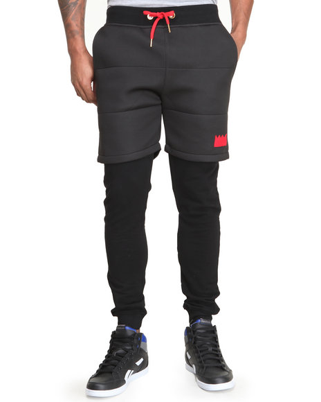 Bass By Ron Bass - Men Black Jesus Piece Sweatpants