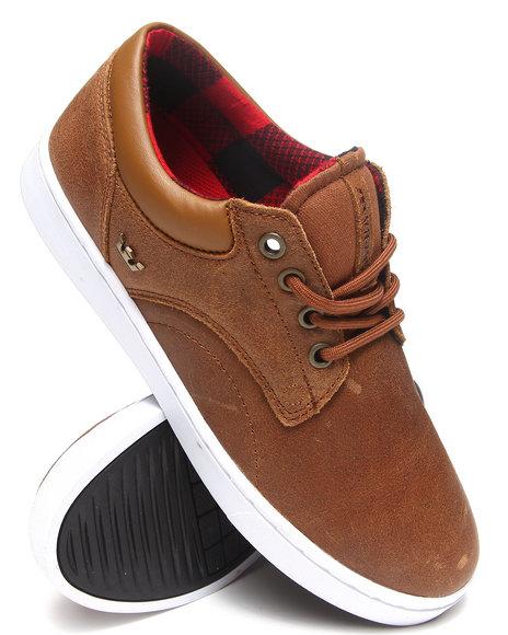 Supra - Men Brown Carver Tan Waxen Leather Sneakers