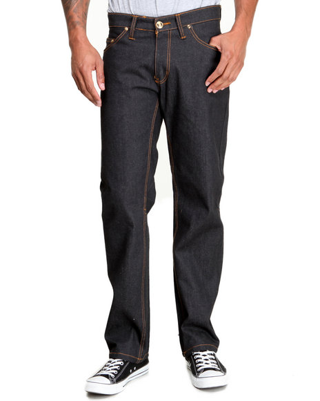 Buyers Picks - Men Black Ejel Straight - Fit Raw Denim Jeans