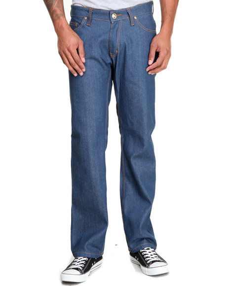Buyers Picks - Men Medium Wash Ejel Straight - Fit Raw Denim Jeans