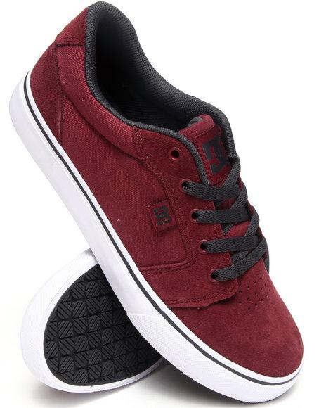 DC Shoes Maroon Anvil Sneakers