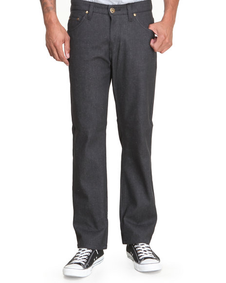 Basic Essentials - Men Charcoal Ejel Straight - Fit Raw Denim Jeans - $13.99