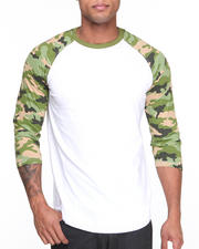 Buyers Picks - Camo - Sleeve 3/4 Sleeve Raglan Tee