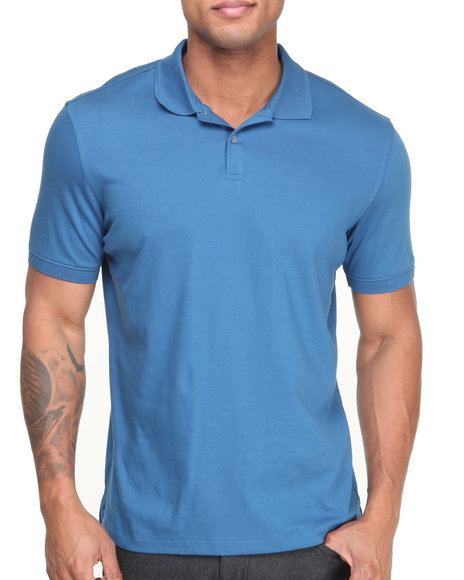 Calvin Klein - Men Blue Short Sleeve 2-Button Polo