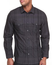 Men - Long Sleeve Large Plaid Button-Down