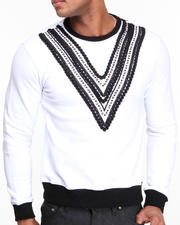 Men - V - Studded Crewneck Sweatshirt